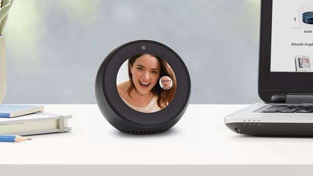 Der Echo Spot ermöglicht dank eingebauter Kamera Videotelefonie