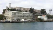 Blick auf die Gefängnisinsel Alcatraz