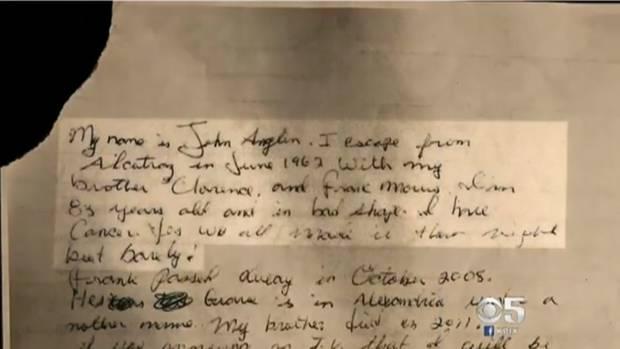 Brief des vermeintlichen John Anglin