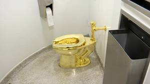 Goldene Toilette Donald Trump