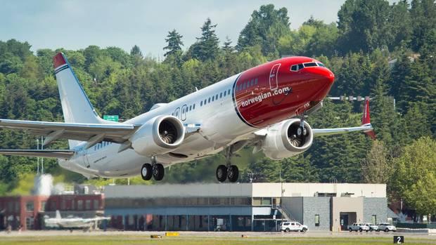 Eine Boeing 737 Max, die bereits auch an den Billigflieger Norwegian ausgeliefert wurde.