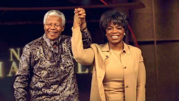 Oprah mit Südafrikas Freiheitshelden Nelson Mandela