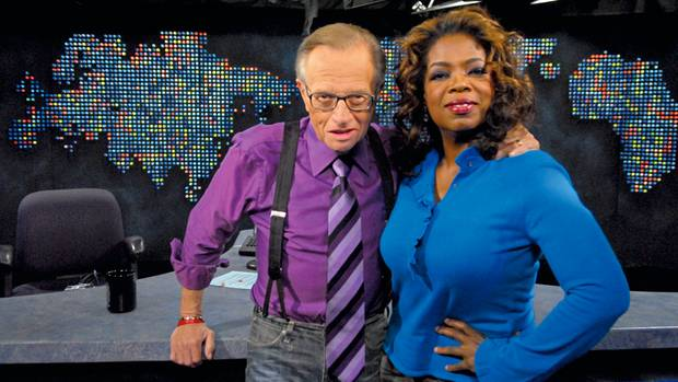 Oprah Winfrey mit dem legendären Late-Night-Talker Larry King