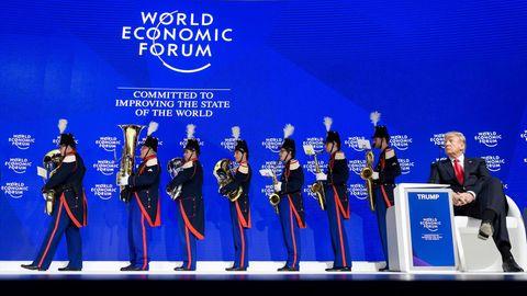 Donald Trump vor seiner Davos-Rede
