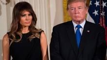 Melania und Donald Trump: Auf Fotos der beiden herrscht oft Eiszeit