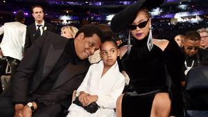 Beyoncé mit Tochter Blue Ivy und Jay Z bei den Grammys