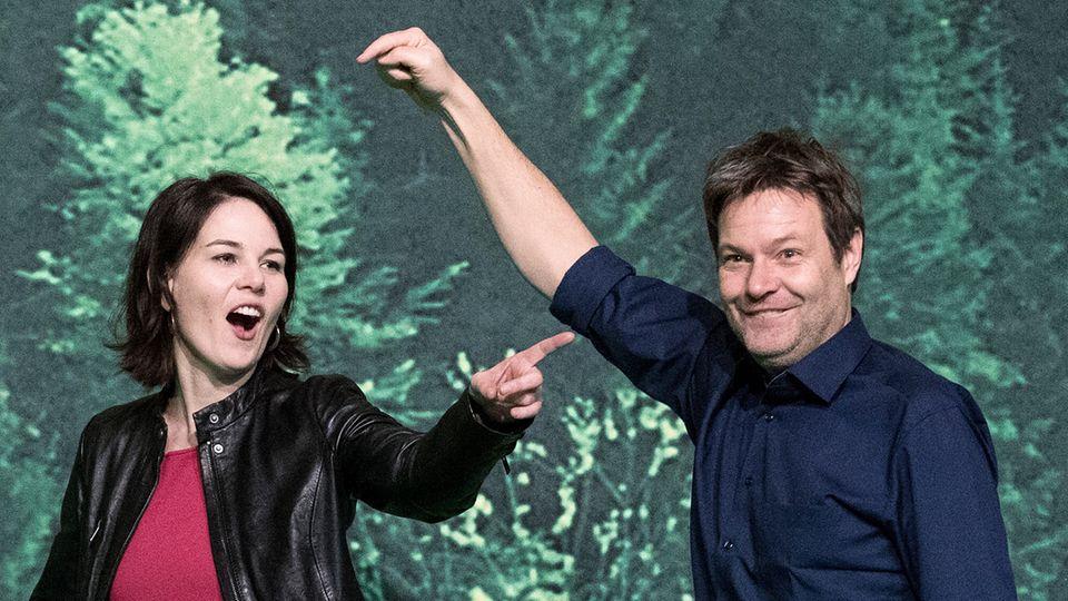Annalena Baerbock und Robert Habeck bilden die neue Grüne-Doppelspitze