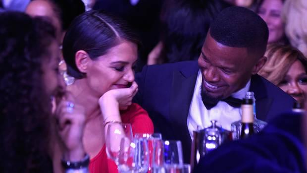 Katie Holmes und Jamie Foxx bei der Pre-Grammy Gala