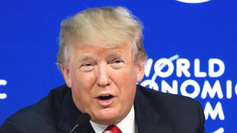 US-Präsident Donald Trump während des Weltwirtschaftsforums in Davos