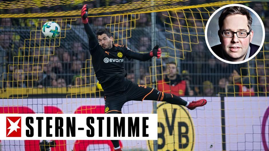 Roman Bürki beim Gegentor des BVB aus 40 Metern gegen den SC Freiburg in der Bundesliga