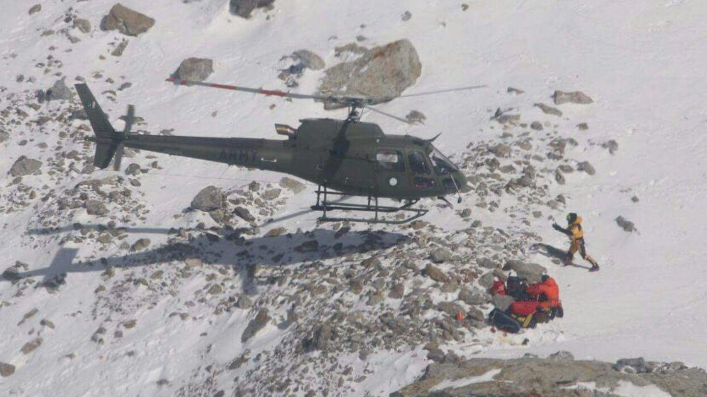 Am Nanga Parbat: Die französische Kletterin konnte vom Rettungsteam erreicht werden