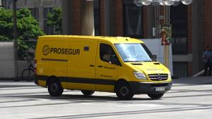 "Ein Geldtransporter der Firma ""Prosegur"""