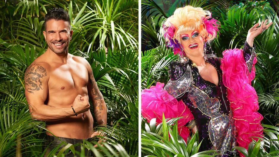 Der Dschungelkönig von 2017 Marc Terenzi und Dschungelprinzessin 2013 Olivia Jones.