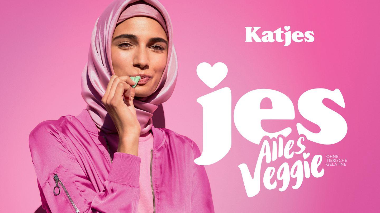 Eins von drei Models der neuen Katjes-Kampagne