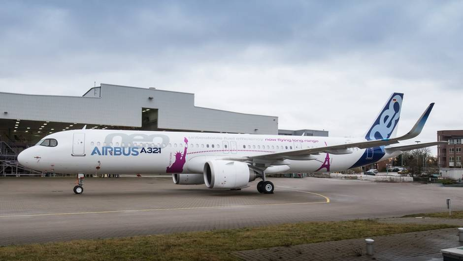 Airbus A321LR beim Rollout