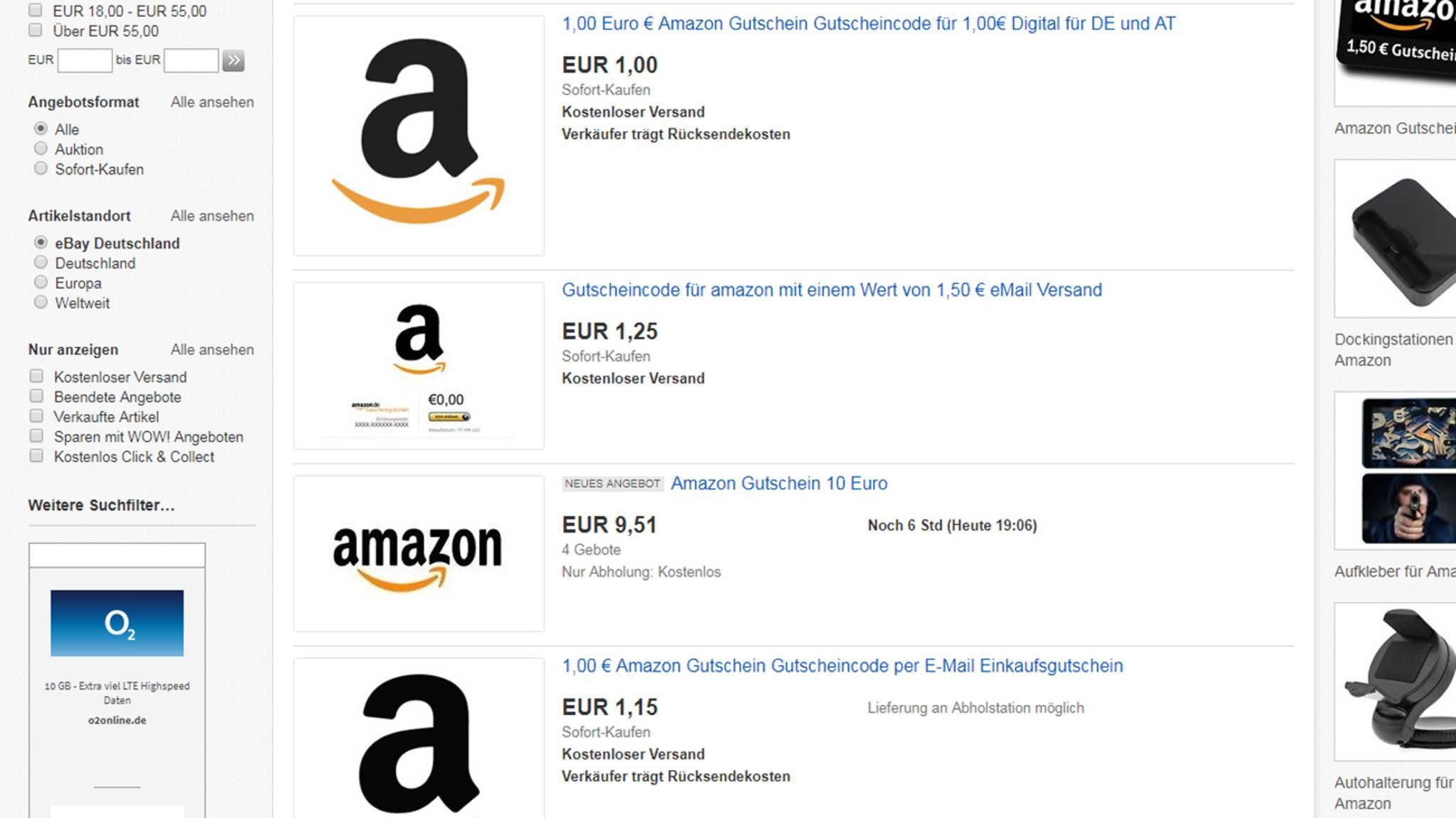 d10429afa62850 Ebay  Wie Händler mit Amazon-Gutscheinen das Ranking manipulieren ...