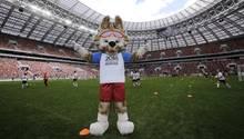 Maskottchen der Fußball-WM in Russland