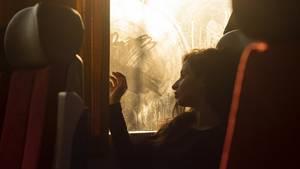 Langeweile in der Bahn