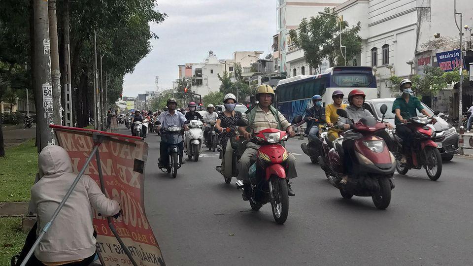 Straße Ly Thái To in Ho-Chi-Minh-Stadt (ehemals Saigon)