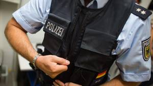 Ein Beamter der Bundespolizei