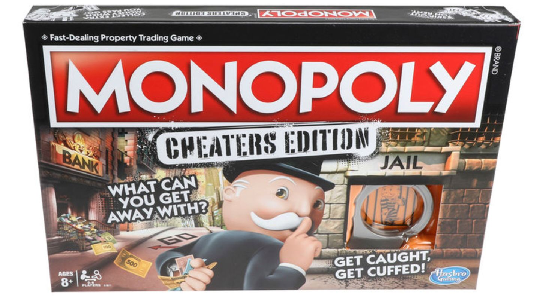 Die Verpackung der neuen Monopoly-Edition für Schummler