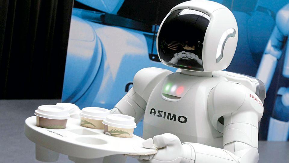 """""""Drei Kaffee, bitte!"""" – der Roboter Asimo versteht einfache Sprachbefehle"""