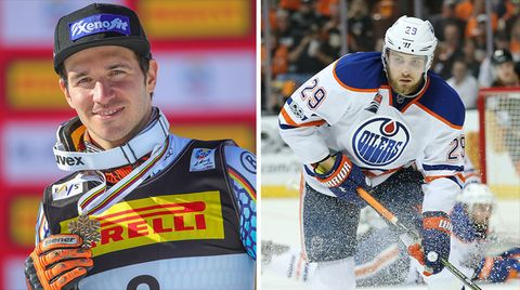 Felix Neureuther und Leon Draisaitl