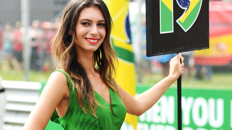 Ein Nummern-Girl in der Formel 1