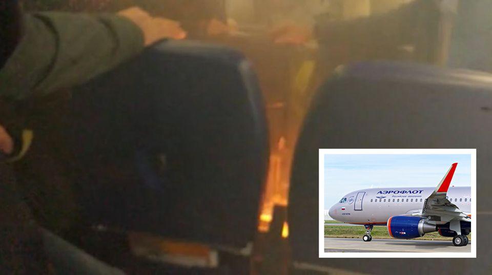 Ein Akku an Bord eines Airbus von Aeroflot hat Feuer gefangen