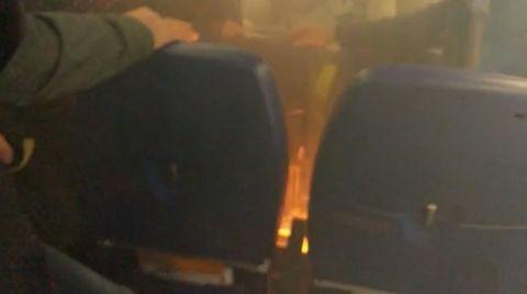 Powerbank fängt Feuer : Flugpassagier bekämpft offenes Feuer mit O-Saft