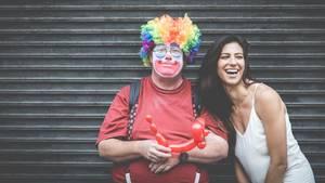 Flachwitze: Ein Clown und eine Frau
