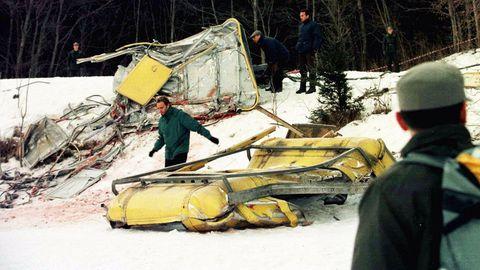 Cavalese, 1998: Die Gondel der Seilbahn wurde komplett zerstört