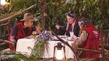 Dschungelcamp: Das Finale in Bildern – Daniele, Tina und Jenny beim Dinner