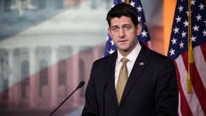 Paul Ryan auf einer Pressekonferenz am 18. Januar