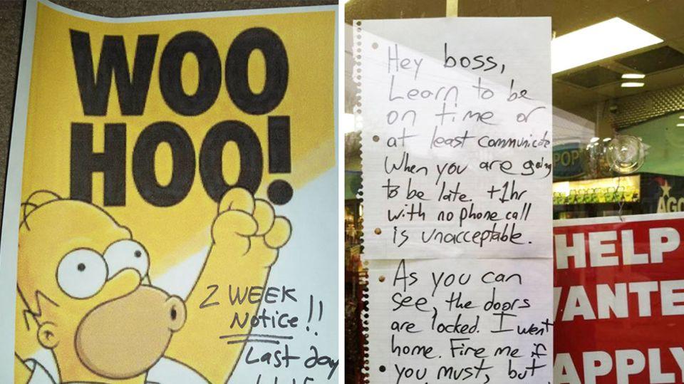 """Kuriose Abgänge: """"Hey Boss..."""" - die lustigsten Abschiedsworte zur Kündigung"""
