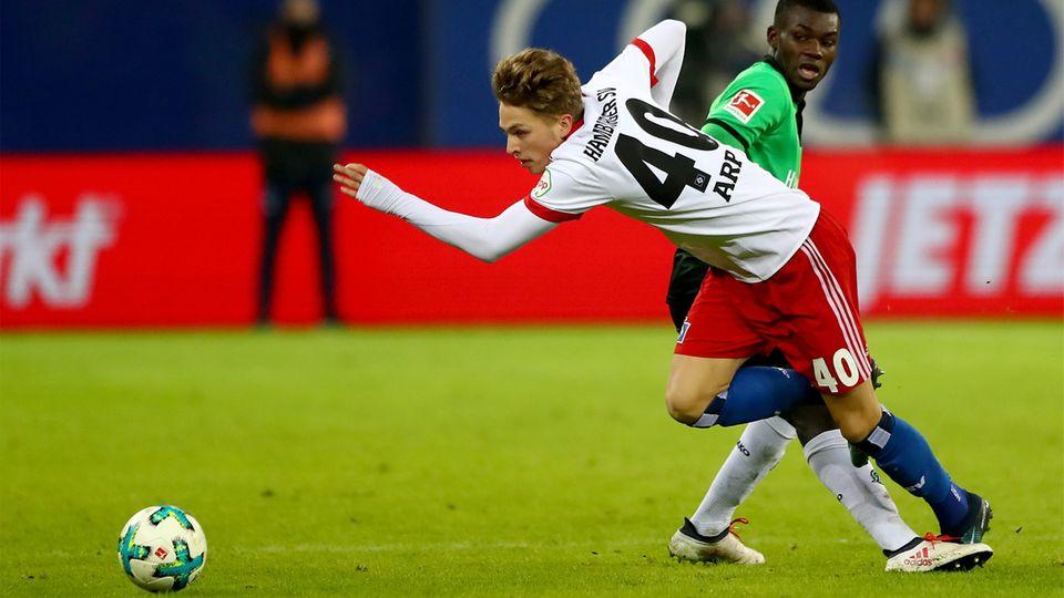 HSV-Hoffnung Jann-Fiete Arp blieb am Sonntag wirkungslos