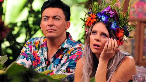 Matthias Mangiapane und Jenny Frankhauser bei ihrem Wiedersehen im Dschungelcamp