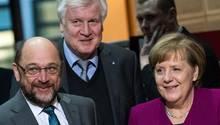 Die Spitzen von Union und SPD treffen sich am Montag zu einer neuen Runde Koalitionsverhandlungen.