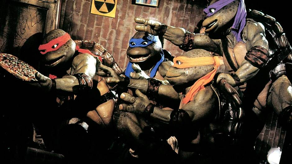 Teenage Mutant Ninja Turtles mit Pizza