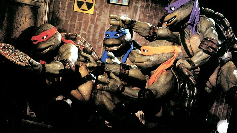 Teenage Mutant Ninja Turtles mit Pizza