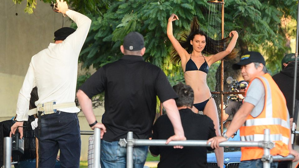 Germany's Next Top Model GNTM Shooting Duschen