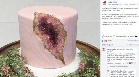 Dieser Kuchen sieht für manche aus wie eine Vagina