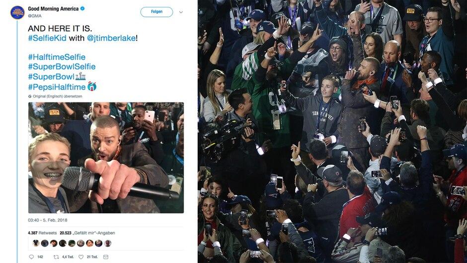 #SelfieKid: Das ist der 13-Jährige, den der Super Bowl schlagartig berühmt machte
