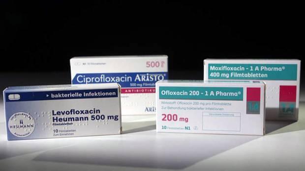 Antibiotika-Präparate, die zur Gruppe der Fluorchinolone gehören.
