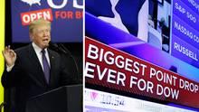 US-Präsident Donald Trump schrieb sich bislang gern den Aufstieg an der Börse auf seine Fahnen