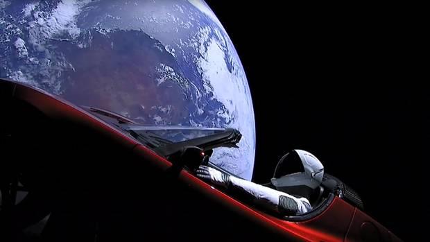 """Dieser Tesla soll in seinerkünftigen Umlaufbahn in den nächsten Millionen Jahren immer wieder am Mars """"vorbeifahren"""""""