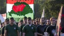 Nationalistische Demonstration in Budapest zum 95. Jahrestag des Vertrags von Versailles