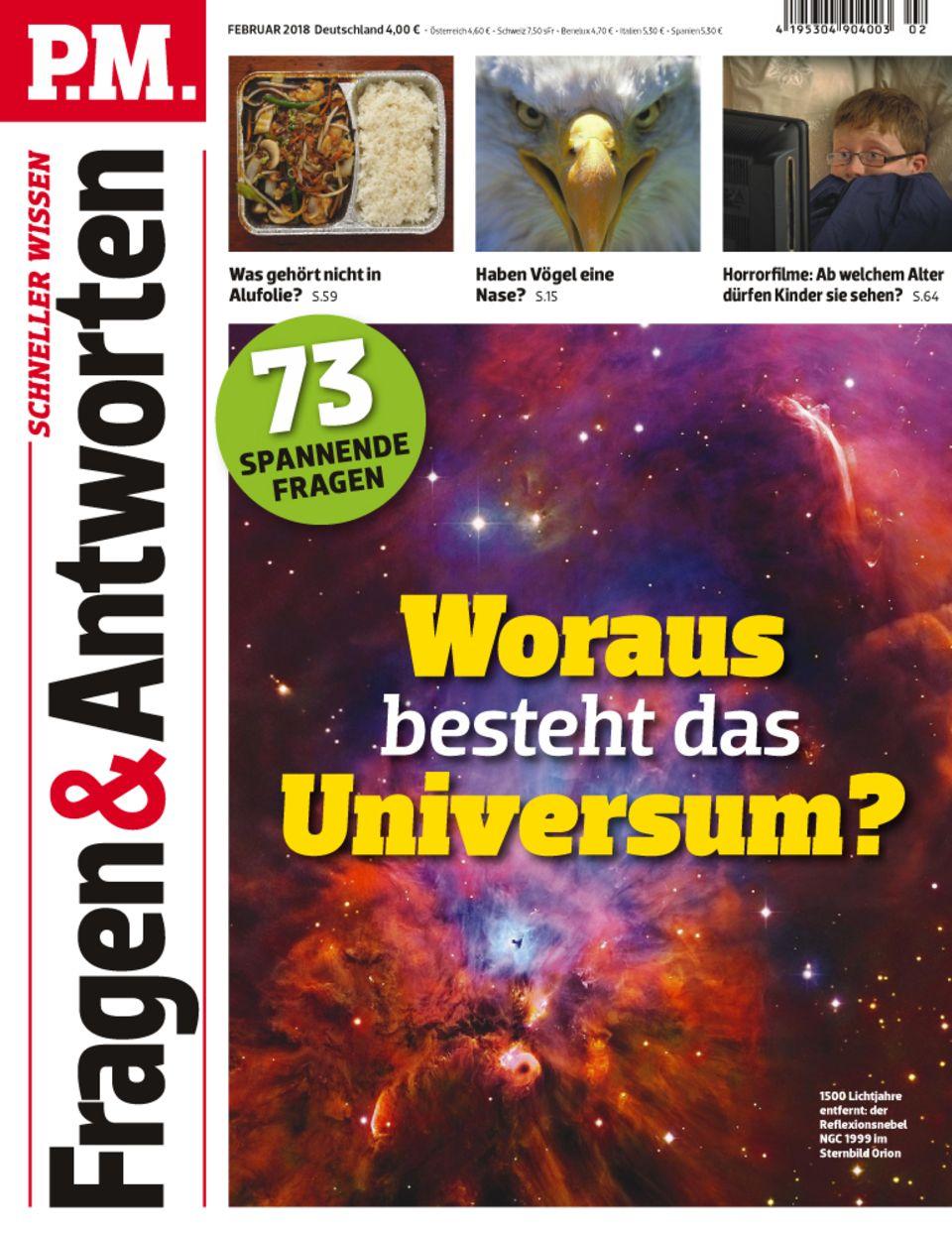 P.M. Fragen & Antworten Cover Februar 2018 Weltall Universum