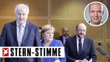 GroKo_Politiker Horst Seehofer, Angela Merkel, Martin Schulz