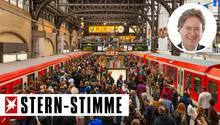 S-Bahn-Verkehr am Hamburger Hauptbahnhof